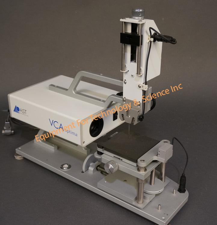 AST Products VCA Optima XE Contact Angle Goniometer with motorized syringe