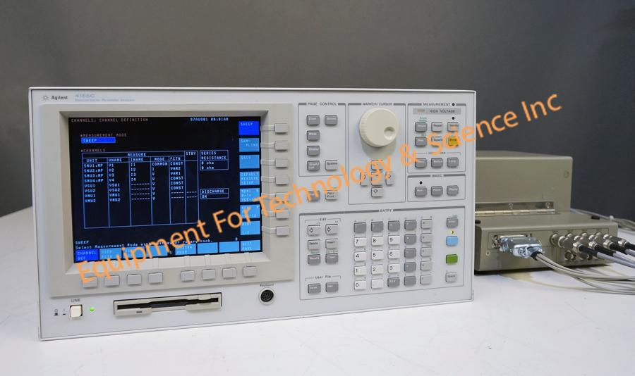 Agilent 4155C semiconductor parameter analyzer with HP16058A test fixture