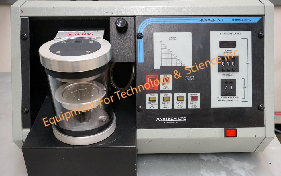 Anatech  Hummer VII SEM deposition/Etch system with thickness monitor and 1.6CFM vacuum pump
