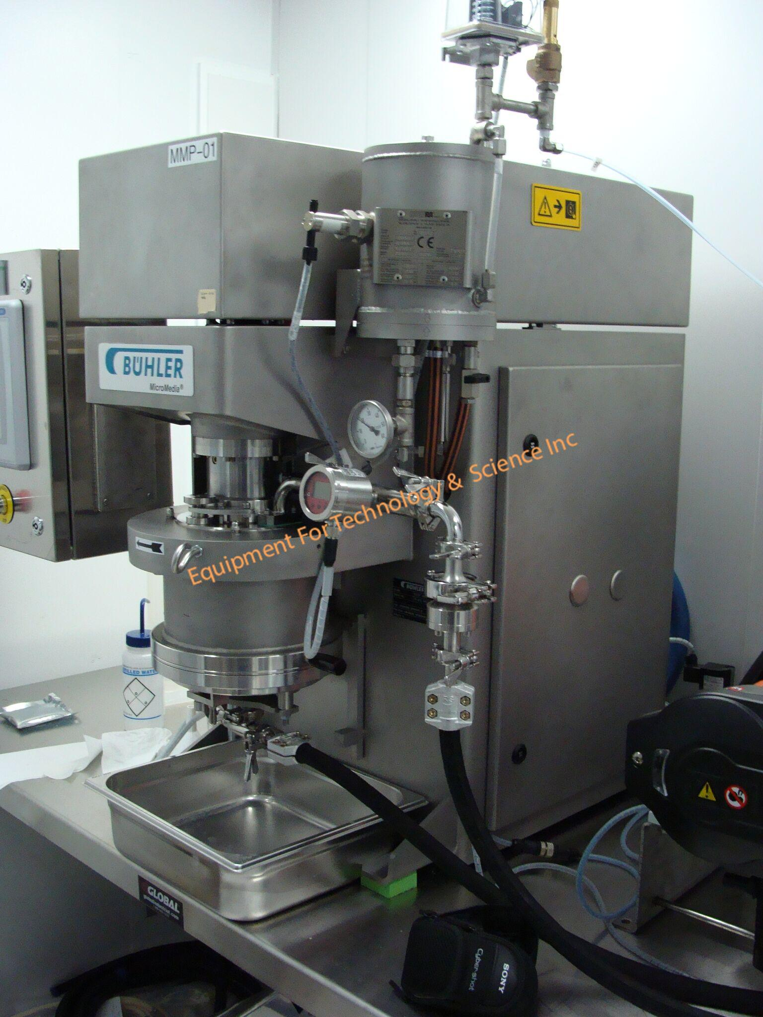 Buhler MM-P1 pilot plant bead mill with SSIC rotor and stator