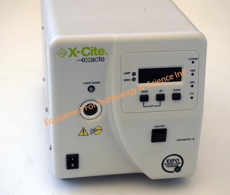 EXFO X-Cite Exacte flourescence light source with 2 fiber guides and microscope adaptor