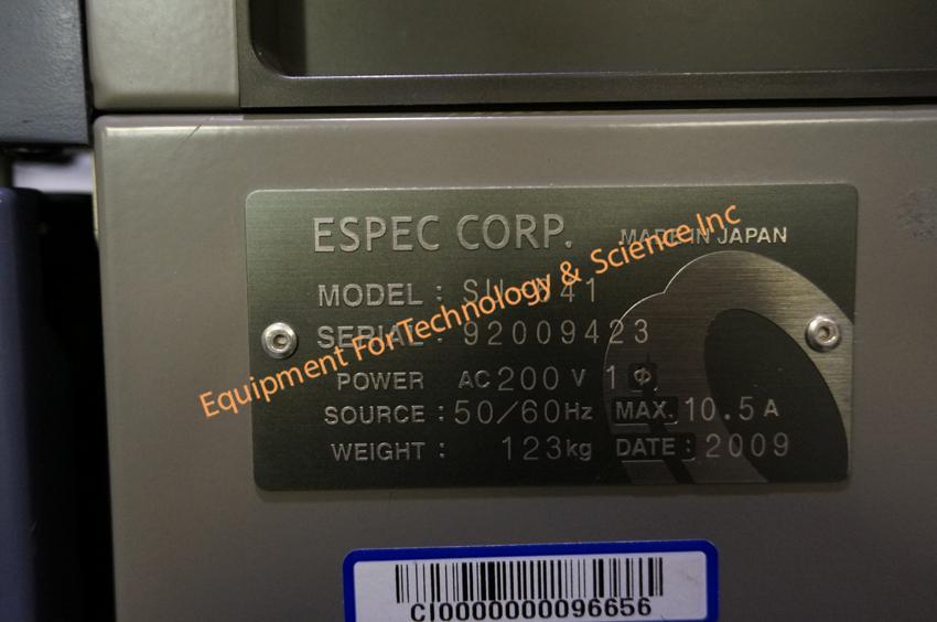 Espec Su 641 Temperature Chamber 40 To 150c