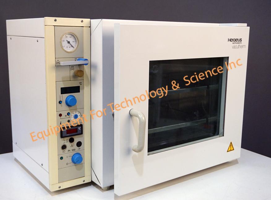 Thermo Scientific (Heraeus) VT6060P shelf heated vacuum oven with max temp 300C/400C