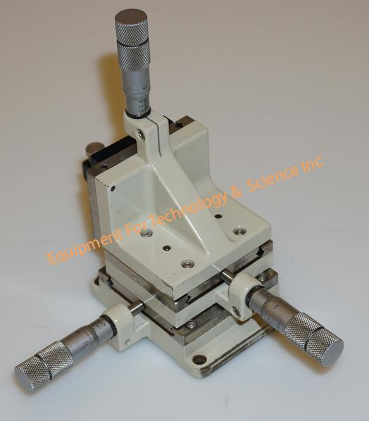 Line Tool Mfg. Model A micropositioner