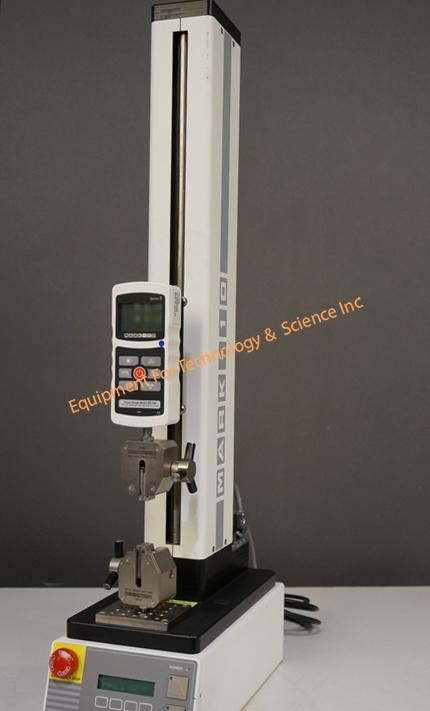 Mark 10 ESM 301L extended length test stand with 300lb capacity, M5-500 digital gauge