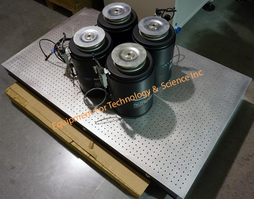 Newport Optical Table 60x36x4 with I-2000-16 pneumatic isolation supports