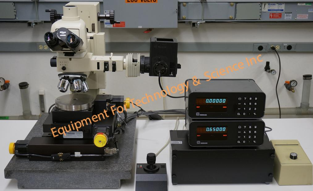 Inspection microscope with Nikon optics, granite base, motorized XY-Theta stage