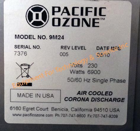 Pacific Ozone 9M24 ozone generator
