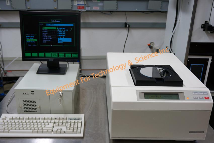 Prometrix Omnimap RS35 sheet resistance mapping system with PC and monitor for 100-200mm wafers