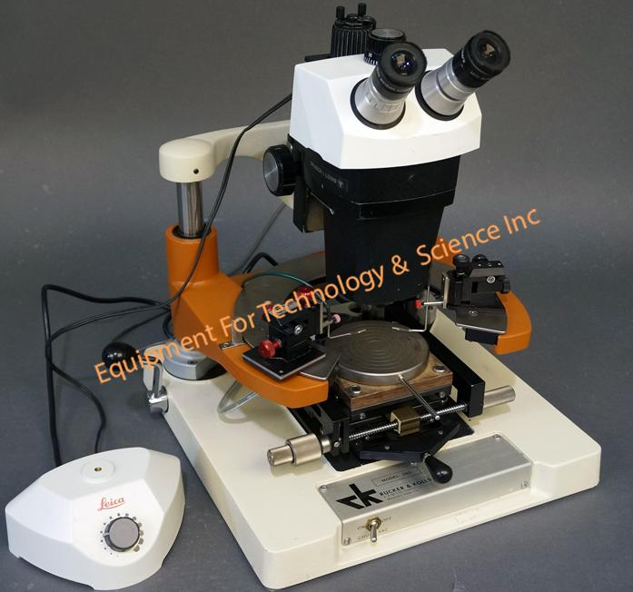 R&K 260 manual prober with 2 micropositioners