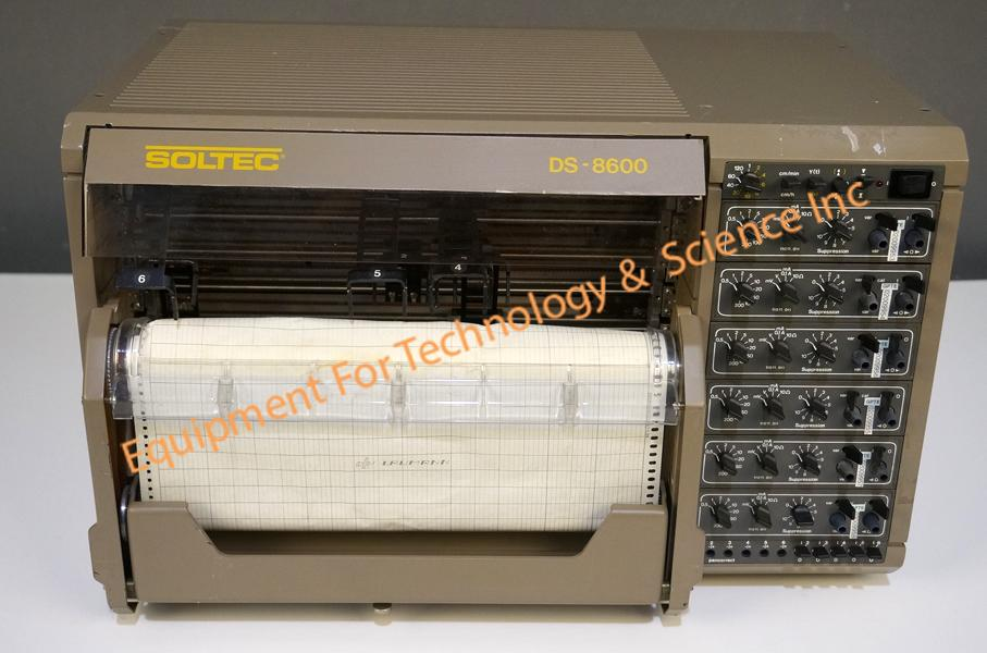 Soltec DS-8606 6 channel chart recorder with analog inputs