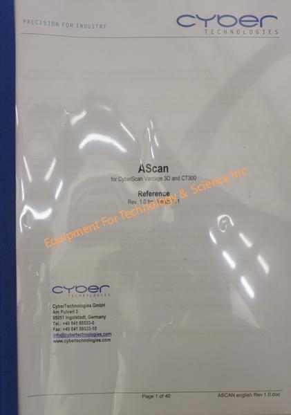 Cyberscan Vantage Noncontact Profiler With Keyence Lt9010m