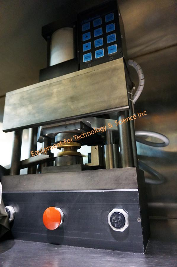 Polaris Accu-Weld 5100 AC resistance welder with atmospheric chamber and bakeout vacuum oven