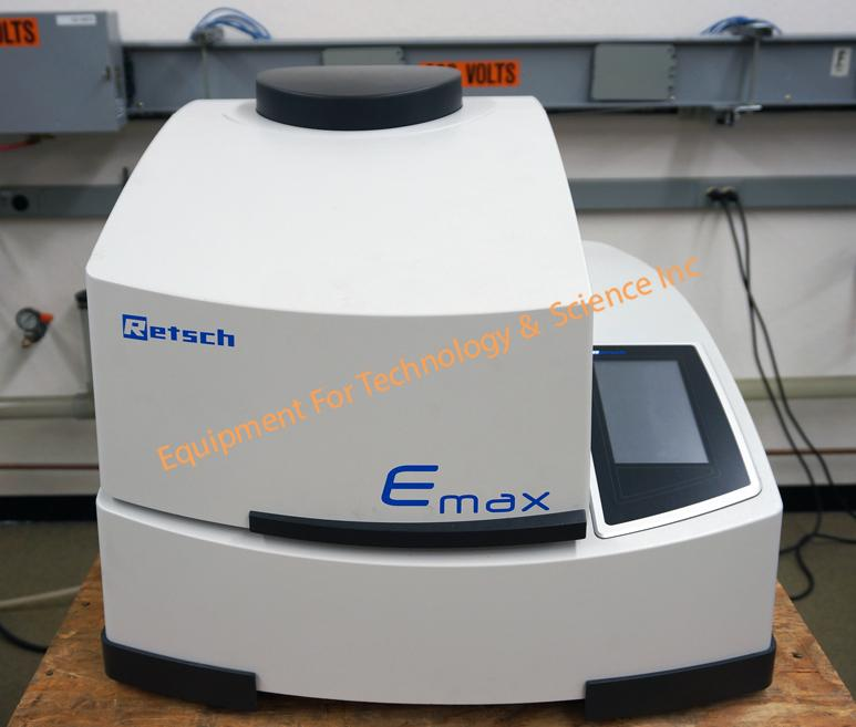 Retsch Emax high energy ball mill with (2) 125ml stainless grinding jars (2014)